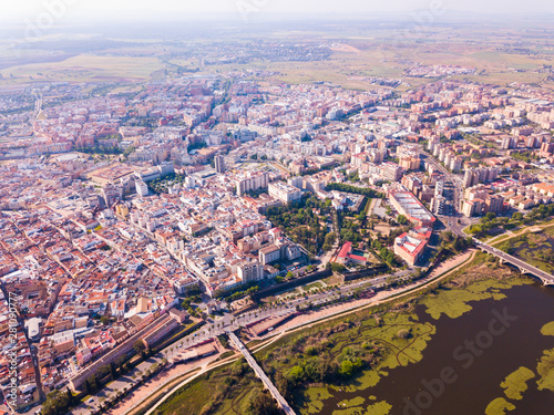Aerial view of Badajoz, Spain