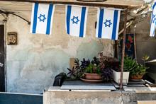 Israeli Flags Hanging Outside ...
