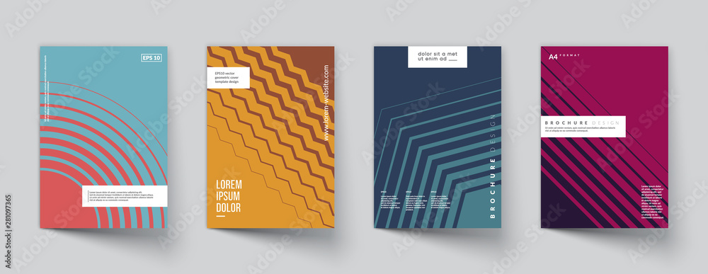 Fototapeta Minimal covers design. Colorful halftone gradients. Future geometric patterns. Eps10 vector.