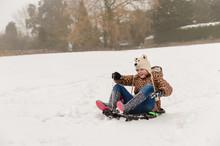 Tween Girl In Polar Bear Hat S...