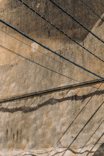 Abstract View Of Grunge Wall With Electrical Cables