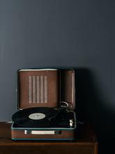 Brown Vintage Vinyl Player