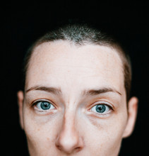 Portrait Of A Woman With Blue ...