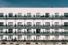 Big White Building Facade