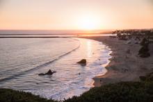 Sunset On The California Coast.