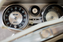 An Vintage Dashboard Of A Car