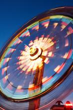 Abstract Motion Light On Ferris Wheel