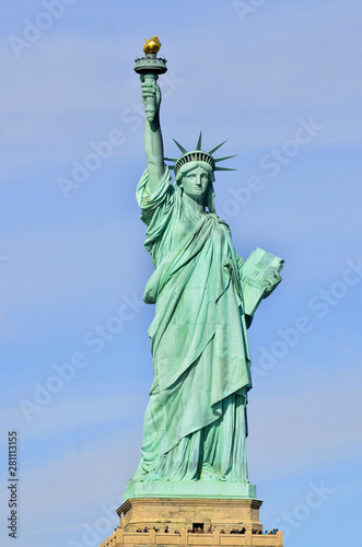 Statue of Liberty, in New York City, NY,  The statue of Liberty was a gift from people of France to the United States in 1886 Fototapeta