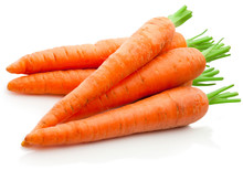 Fresh Carrots Isolated On Whit...