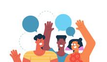 Social Friend Group For Communication Concept