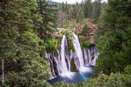 Daytime long exposure of McArthur Burney Falls waterfall in California