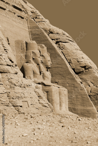 Fototapeta  Abu Simbel temples are two massive rock temples in Abu Simbel in Nubia, southern Egypt
