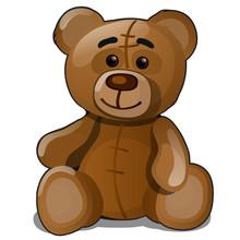 Soft Toy Teddy Bear Isolated O...
