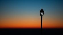 Street Lantern On Sunset