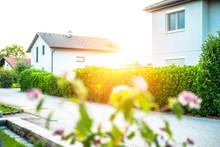 Wohnsiedlung Häuser / Siedlung Mit Nachbarn