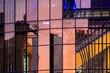Leinwanddruck Bild - Fassade des Cinedom in Köln - abstrakt am Abend