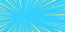 Pop Art Sun Blue Background