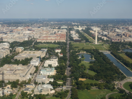 Fotografie, Tablou Washington DC panorama - Aerial view of Arlington Hill