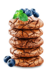 Chocolate brownie cookies o...