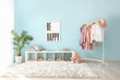 Leinwandbild Motiv Stylish interior of dressing room at home