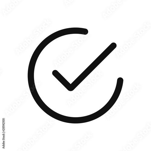 Fotografía  Checked icon vector
