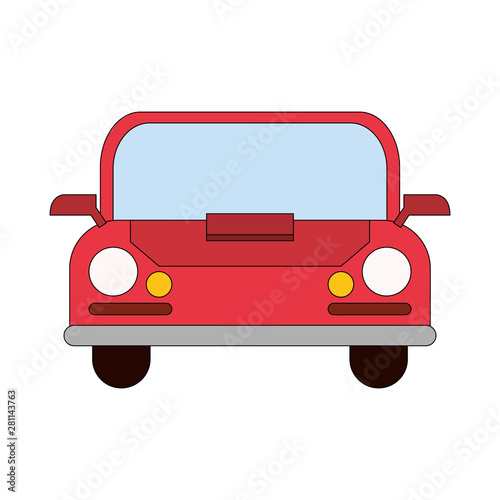 Recess Fitting Cars transport traffic delivery logistic cartoon