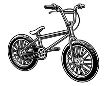 Vector Illustration Of A  Bmx Bicycle