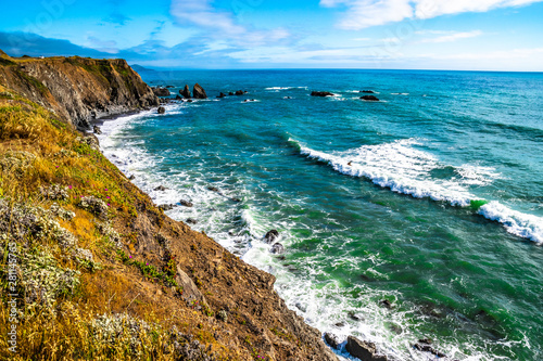Tuinposter Kust Beautiful Day Along the Northern California Coast