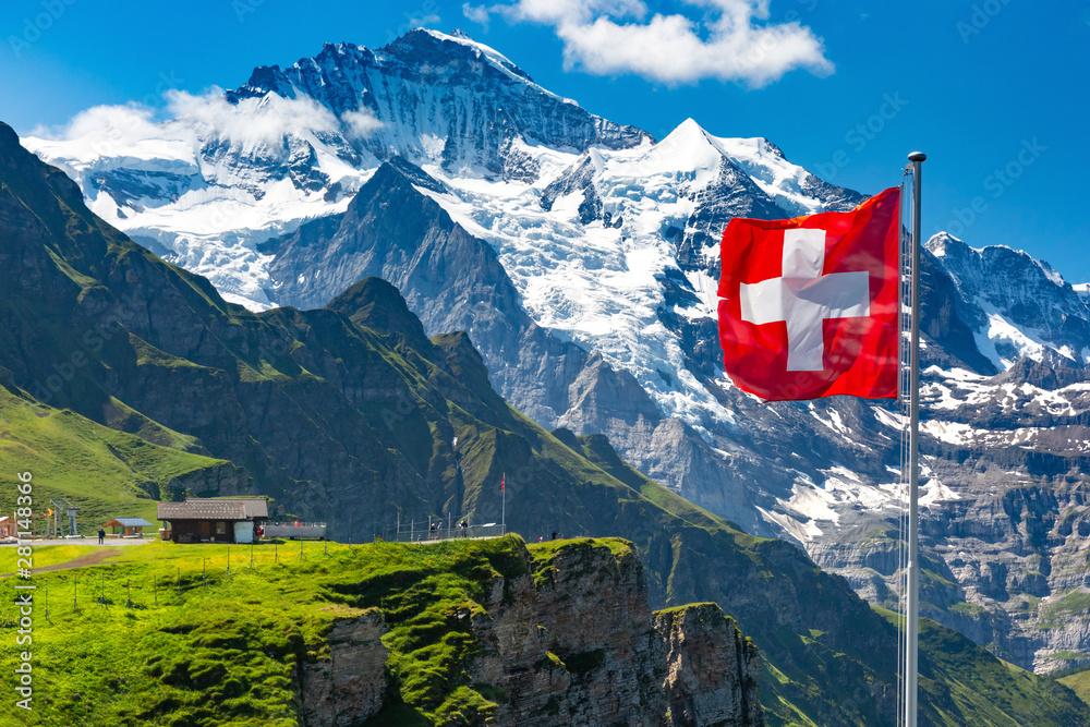 Fototapeta Mannlichen viewpoin, Switzerland