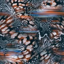 Mix Animal Skin Print Repeat Seamless Pattern Design. Leopard, Snake, Zebra, Tiger, Crocodile Texture Background.
