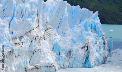 Poster Glaciers The Perito Moreno Glacier is a glacier located in the Los Glaciares National Park in the Santa Cruz province, Argentina. It is one of the most important tourist attractions in the Argentine Patagonia