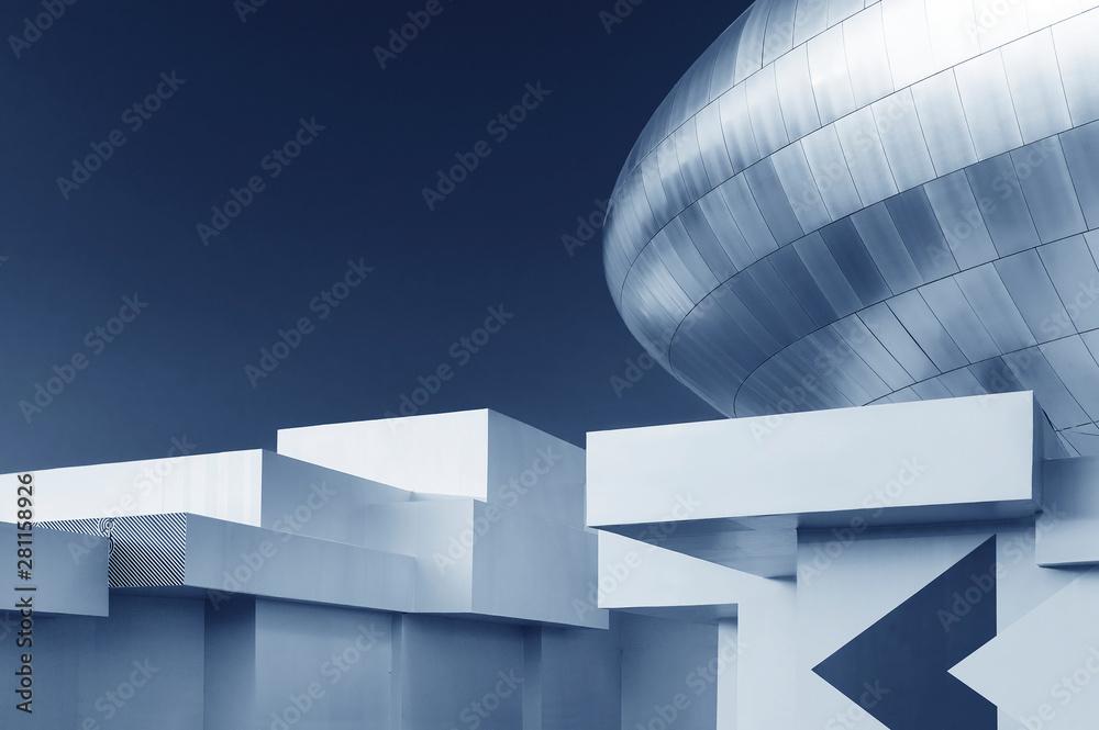 Obraz Modern building abstract background pattern fototapeta, plakat