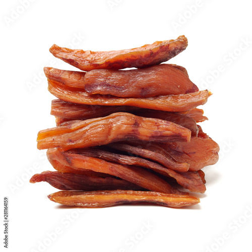 Photo  dried sweet potato on white background
