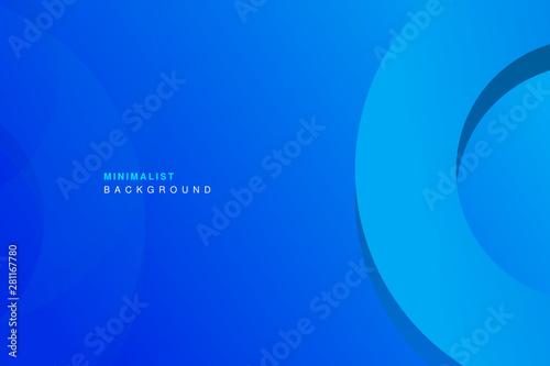 Montage in der Fensternische Dunkelblau abstract colorful blue geometric background