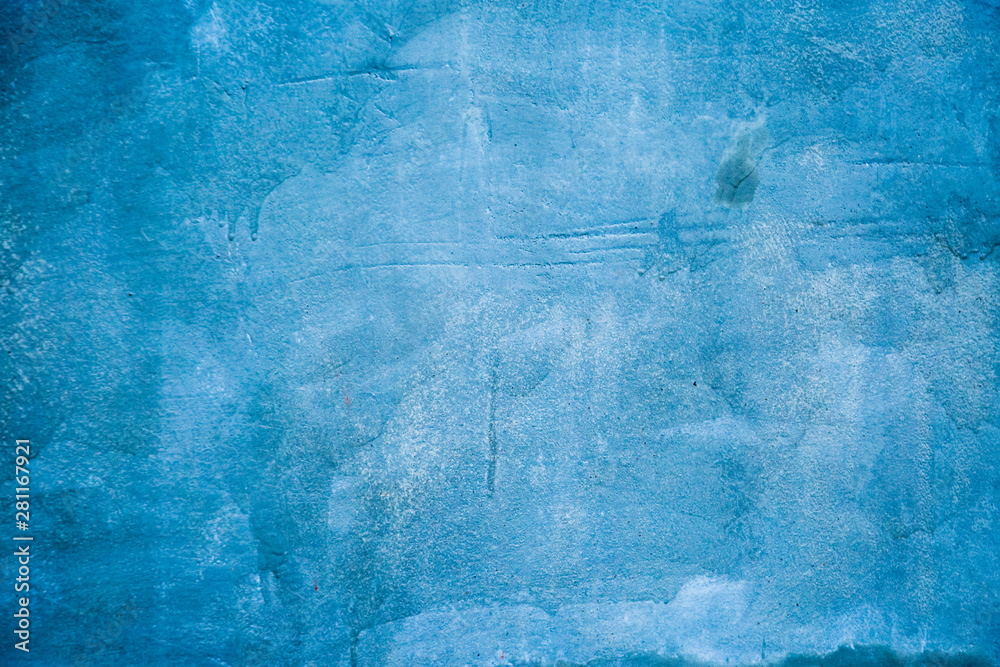 Fototapety, obrazy: old cement blue wall