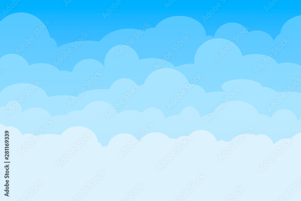Fototapety, obrazy: Blue sky with clouds background can be used for poster or presentation design.