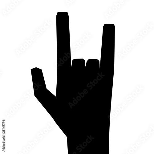 Handzeichen Surfer Obraz na płótnie