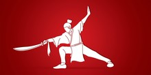 Kung Fu, Wushu With Sword Spos...