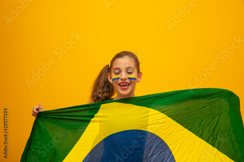Football supporter, Brazil team Canvas