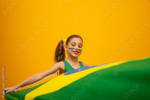 Photographie  Football supporter, Brazil team