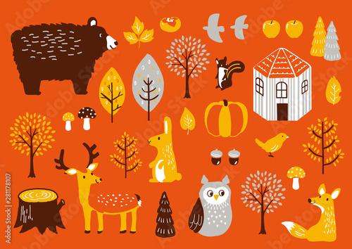 Canvastavla 秋セット 秋の動物たち
