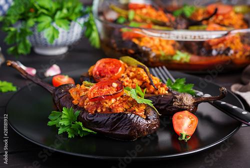 Karniyarik - turkish traditional aubergine eggplant meal Canvas Print
