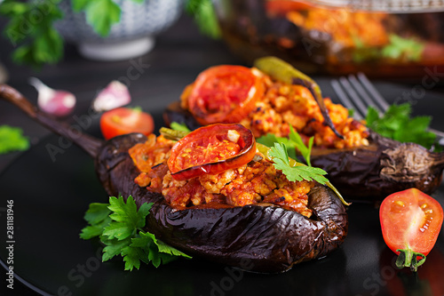 Karniyarik - turkish traditional aubergine eggplant meal Canvas Print