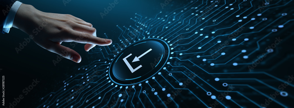 Fototapeta Download Data Storage Business Technology Network Internet Concept