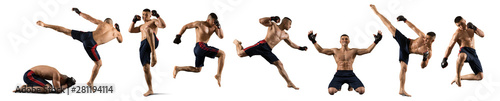 Foto MMA male fighter isolated