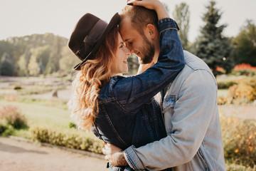 Happy loving couple outdoor...