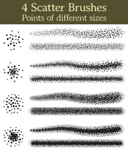 4 Scatter Brushes, Points Of D...