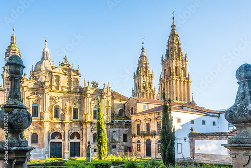 View at the Santa Catarina chapel at Immaculada place in  Santiago de Compostela Canvas