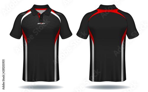 T-shirt polo design, Sport jersey template. Tableau sur Toile