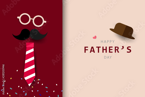 Happy Father's Day greeting card background and banner Poster Mural XXL